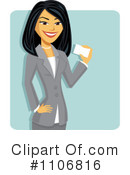Asian Businesswoman Clipart #1106816 by Amanda Kate