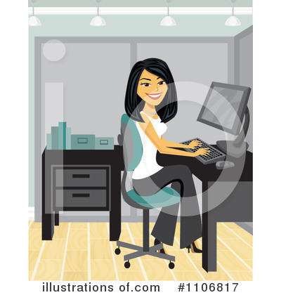 Businesswoman Clipart #1106817 by Amanda Kate