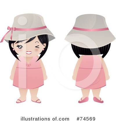 Asian Woman Clipart #74569 by Melisende Vector