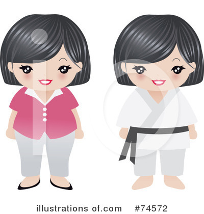 Asian Woman Clipart #74572 by Melisende Vector