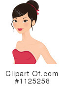 Asian Woman Clipart #1125258 by Melisende Vector