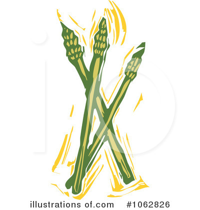 Royalty-Free (RF) Asparagus Clipart Illustration by xunantunich - Stock Sample #1062826
