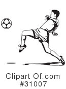 Royalty-Free (RF) Association football Clipart Illustration #31007
