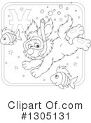 Royalty-Free (RF) Astrological Dog Clipart Illustration #1305131