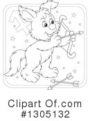 Royalty-Free (RF) Astrological Dog Clipart Illustration #1305132