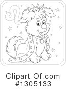 Royalty-Free (RF) Astrological Dog Clipart Illustration #1305133
