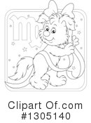 Royalty-Free (RF) Astrological Dog Clipart Illustration #1305140