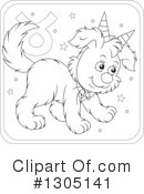 Royalty-Free (RF) Astrological Dog Clipart Illustration #1305141