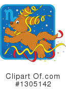 Royalty-Free (RF) Astrological Dog Clipart Illustration #1305142