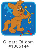 Royalty-Free (RF) Astrological Dog Clipart Illustration #1305144