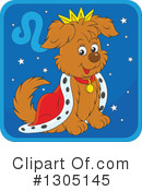 Royalty-Free (RF) Astrological Dog Clipart Illustration #1305145