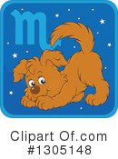 Royalty-Free (RF) Astrological Dog Clipart Illustration #1305148