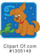 Royalty-Free (RF) Astrological Dog Clipart Illustration #1305149
