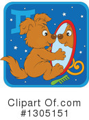 Royalty-Free (RF) Astrological Dog Clipart Illustration #1305151