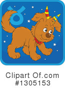 Royalty-Free (RF) Astrological Dog Clipart Illustration #1305153