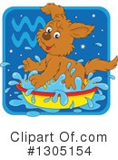 Royalty-Free (RF) Astrological Dog Clipart Illustration #1305154
