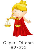 Royalty-Free (RF) Astrological Girl Clipart Illustration #87655