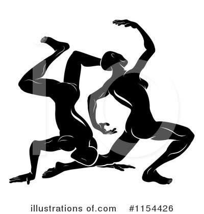 Dancing Clipart #1154426 by AtStockIllustration