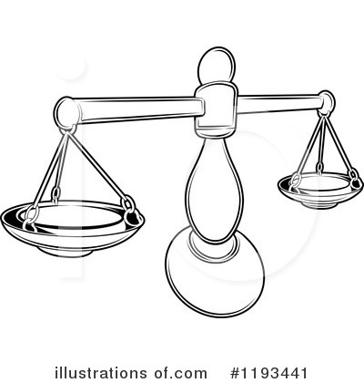 Scales Of Justice Clipart #1193441 by AtStockIllustration