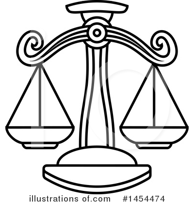Scales Of Justice Clipart #1454474 by AtStockIllustration