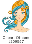Royalty-Free (RF) Astrology Face Clipart Illustration #209557