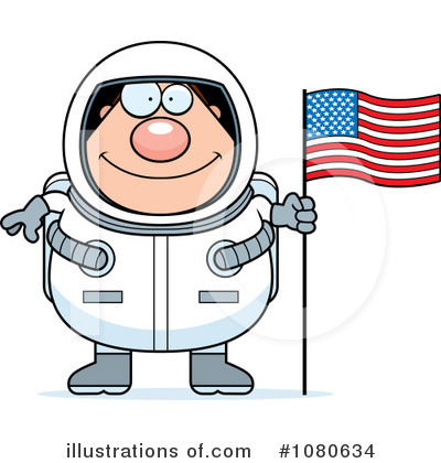 Astronaut Clipart #1080634 by Cory Thoman