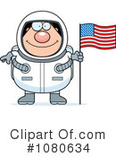 Royalty-Free (RF) Astronaut Clipart Illustration #1080634
