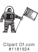 Royalty-Free (RF) Astronaut Clipart Illustration #1181924