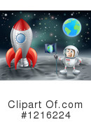 Astronaut Clipart #1216224 by AtStockIllustration