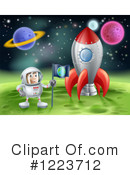Astronaut Clipart #1223712 by AtStockIllustration