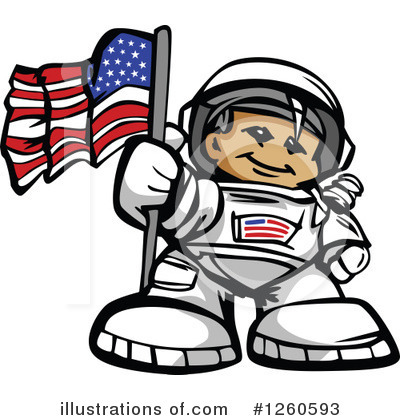 Royalty-Free (RF) Astronaut Clipart Illustration by Chromaco - Stock Sample #1260593