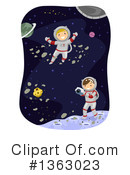 Royalty-Free (RF) Astronaut Clipart Illustration #1363023