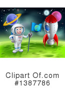 Astronaut Clipart #1387786 by AtStockIllustration