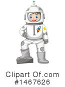 Royalty-Free (RF) Astronaut Clipart Illustration #1467626