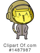 Royalty-Free (RF) Astronaut Clipart Illustration #1487987