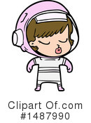 Astronaut Clipart #1487990 by lineartestpilot