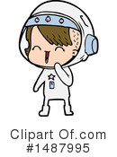 Astronaut Clipart #1487995 by lineartestpilot