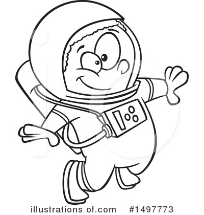 Astronaut Clipart #1497773 by toonaday