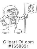 Astronaut Clipart #1658831 by AtStockIllustration