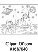Astronaut Clipart #1687040 by AtStockIllustration