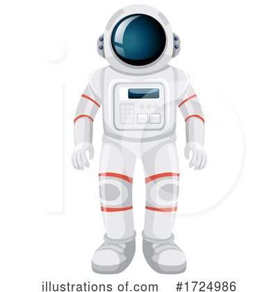 Royalty-Free (RF) Astronaut Clipart Illustration by Graphics RF - Stock Sample #1724986