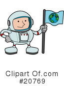 Astronaut Clipart #20769 by AtStockIllustration