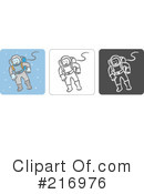 Royalty-Free (RF) Astronaut Clipart Illustration #216976