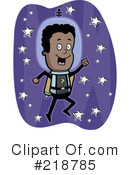 Royalty-Free (RF) Astronaut Clipart Illustration #218785