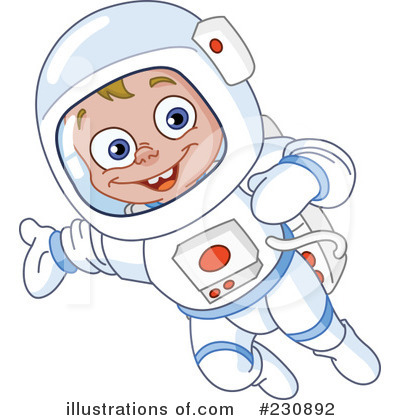 Royalty-Free  RF  Astronaut Clipart Illustration by yayayoyo - Stock    Kid Astronaut Clip Art