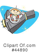 Royalty-Free (RF) Astronaut Clipart Illustration #44890