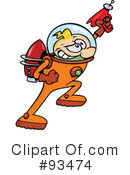 Royalty-Free (RF) Astronaut Clipart Illustration #93474