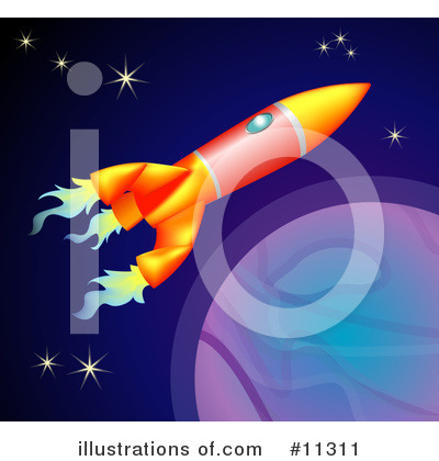Outer Space Clipart #11311 by AtStockIllustration