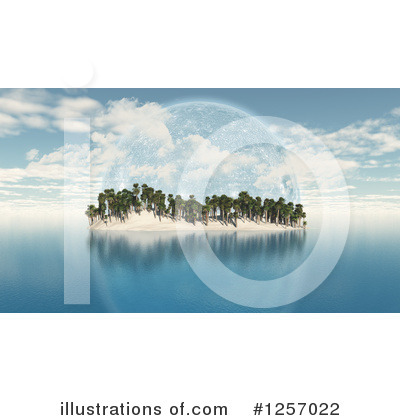 Island Clipart #1257022 by KJ Pargeter