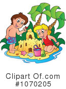 Royalty-Free (RF) At The Beach Clipart Illustration #1070205